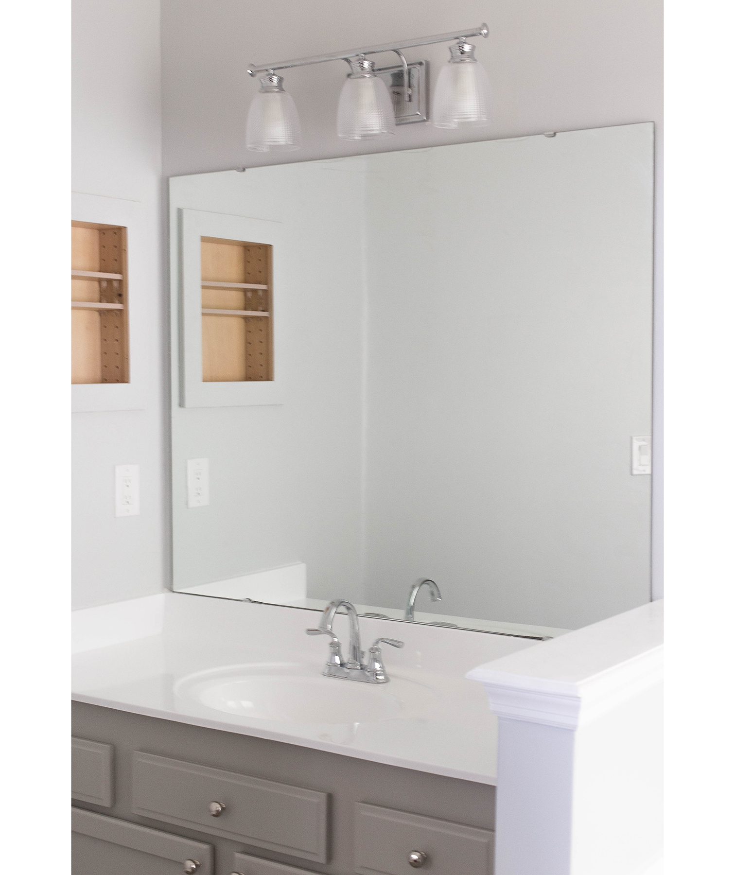 Builder-Grade Bathroom Mirror