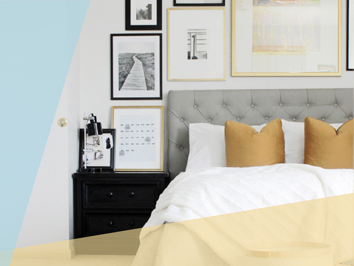 Easy Home Upgrades Under $100, tufted headboard