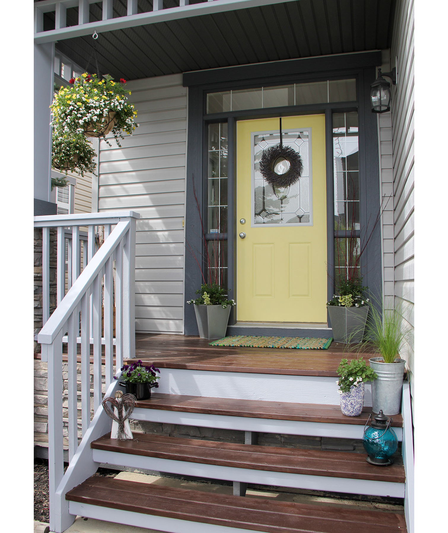 Light yellow front door