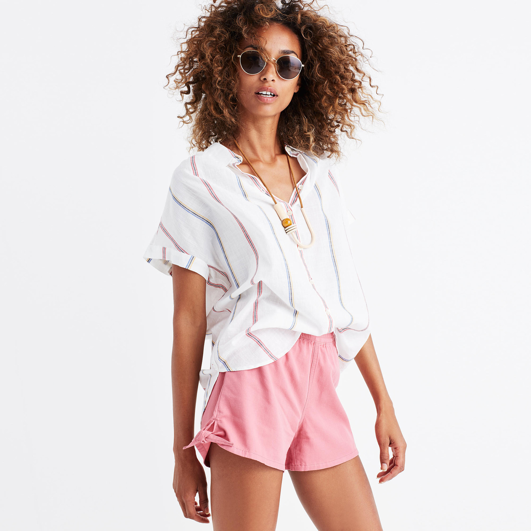 Madewell Pull-On Side-Tie Shorts