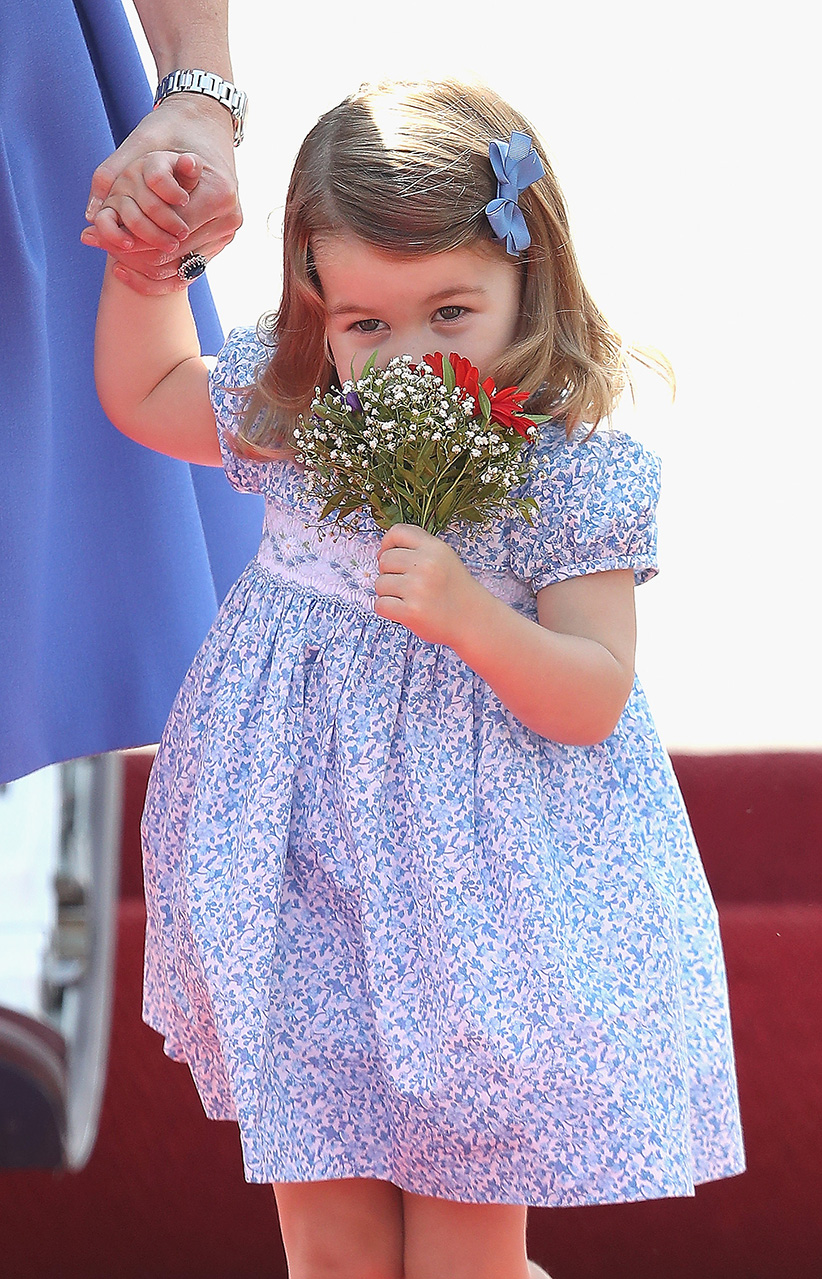 Smelling Flowers Princess Charlotte