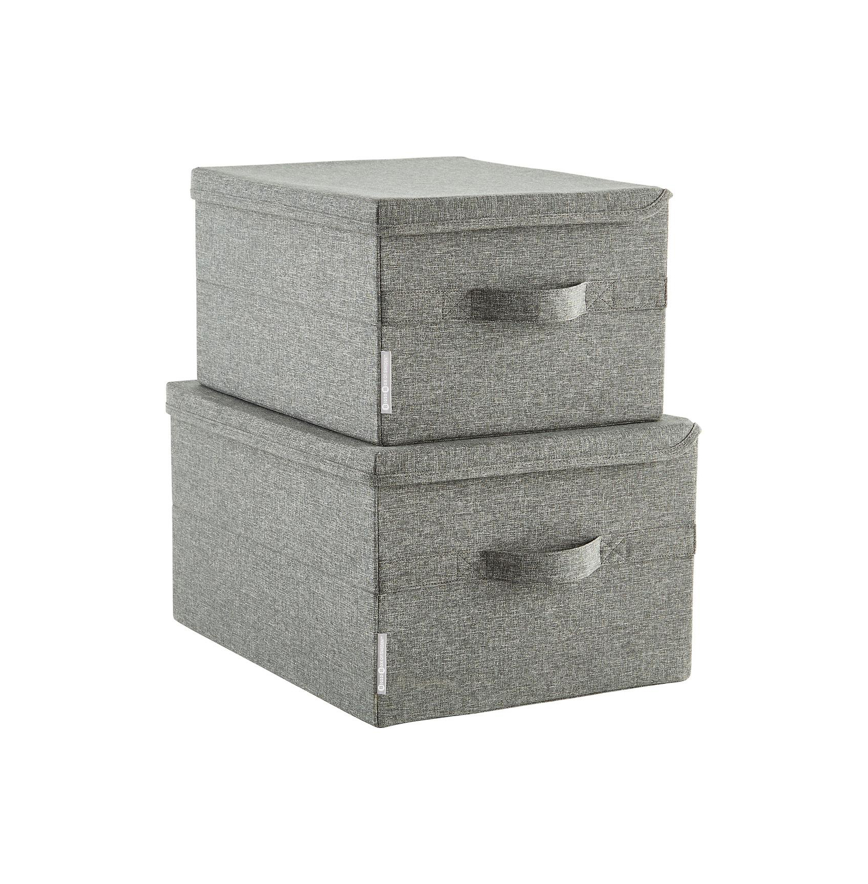 Bisco Grey Soft Storage Boxes