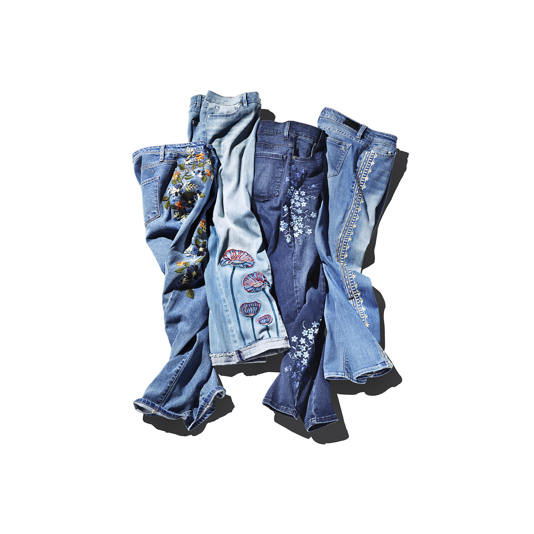 Jeans with fancy stitching