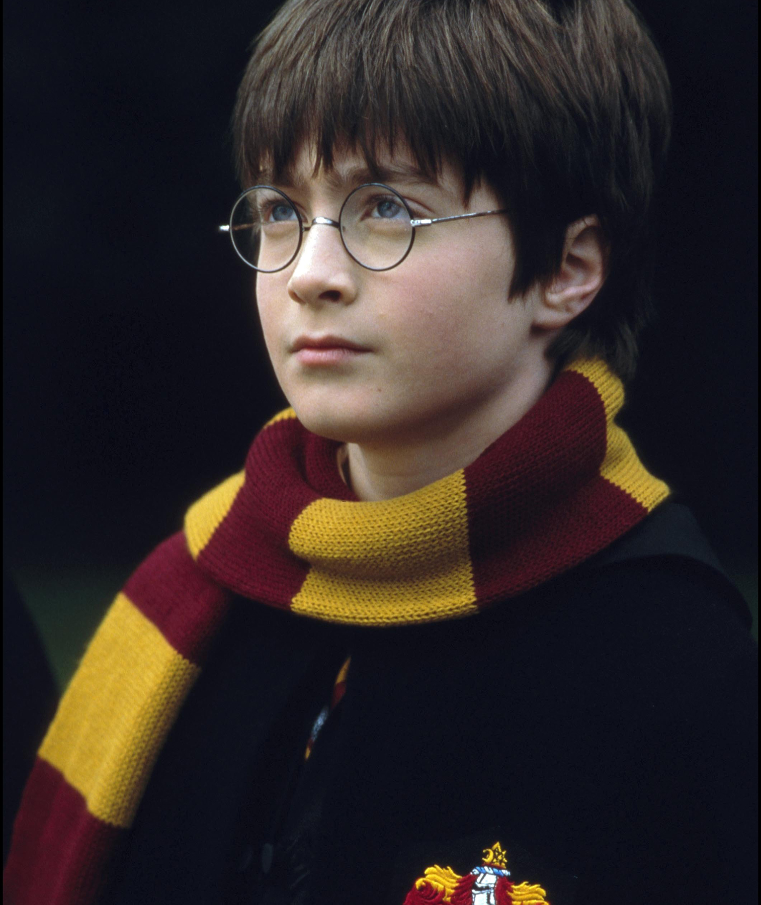 Harry Potter in a scarf