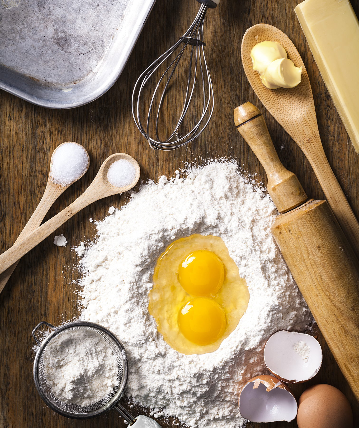 Baking ingredients and tools