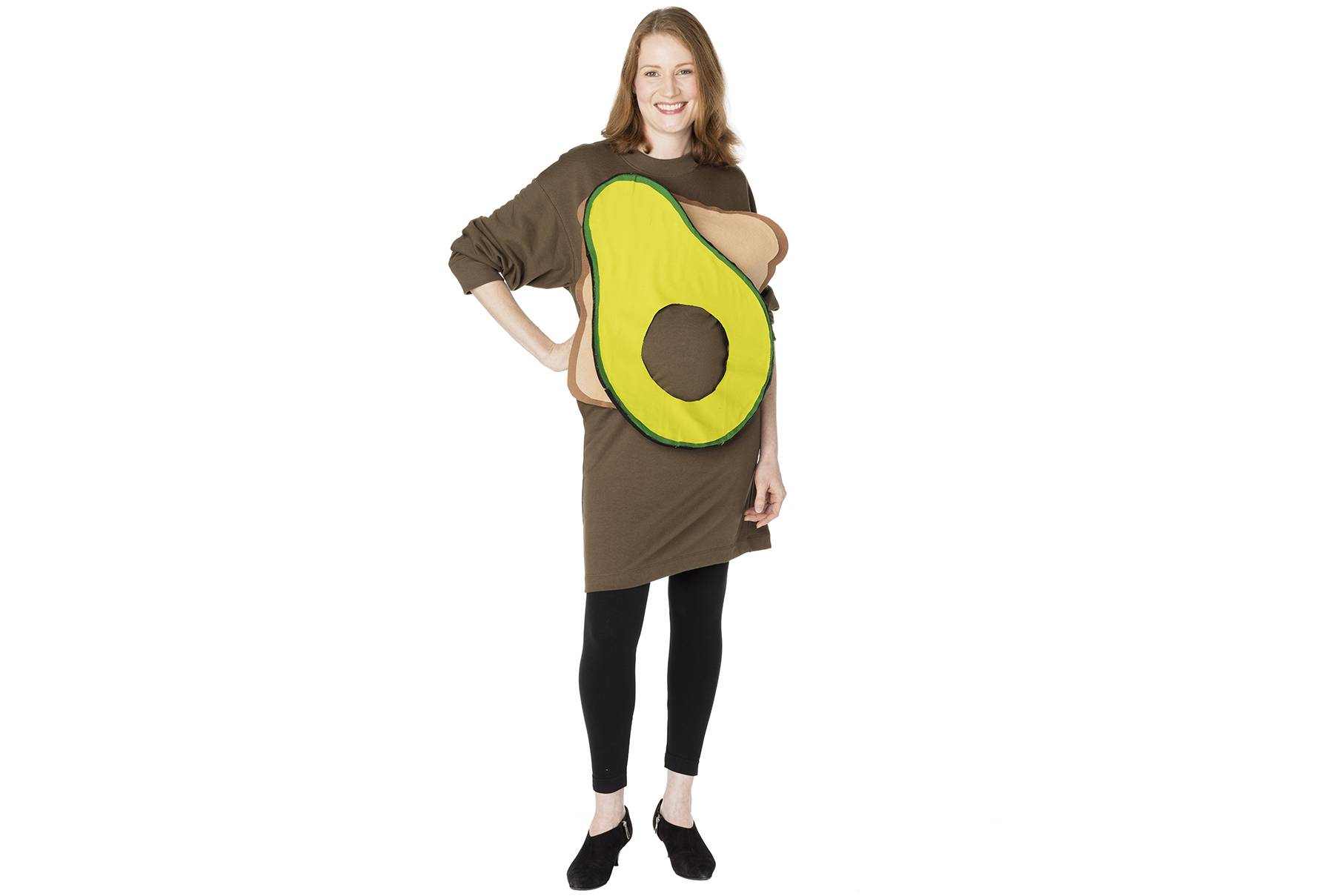 DIY Halloween costumes - Avocado Toast idea for pregnant women
