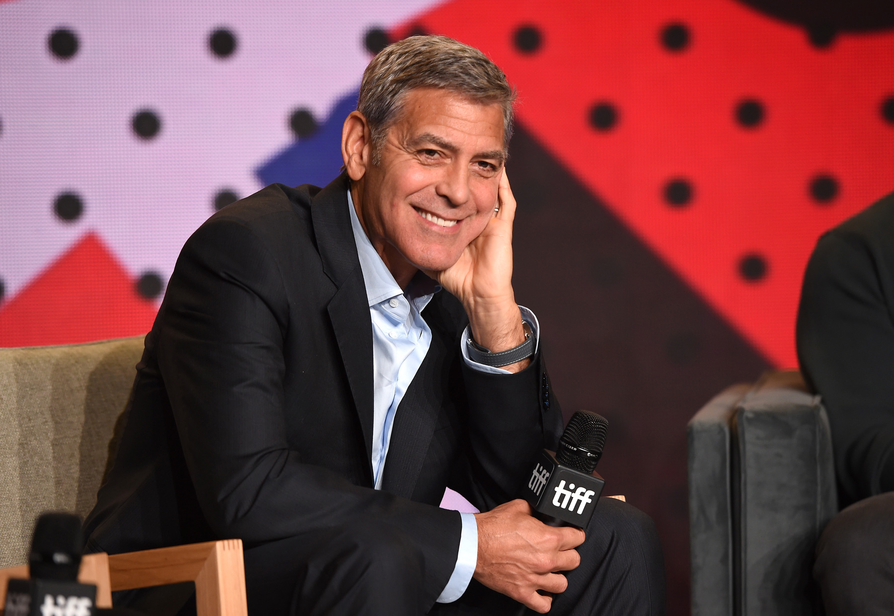 George Clooney looking cute at TIFF 2017