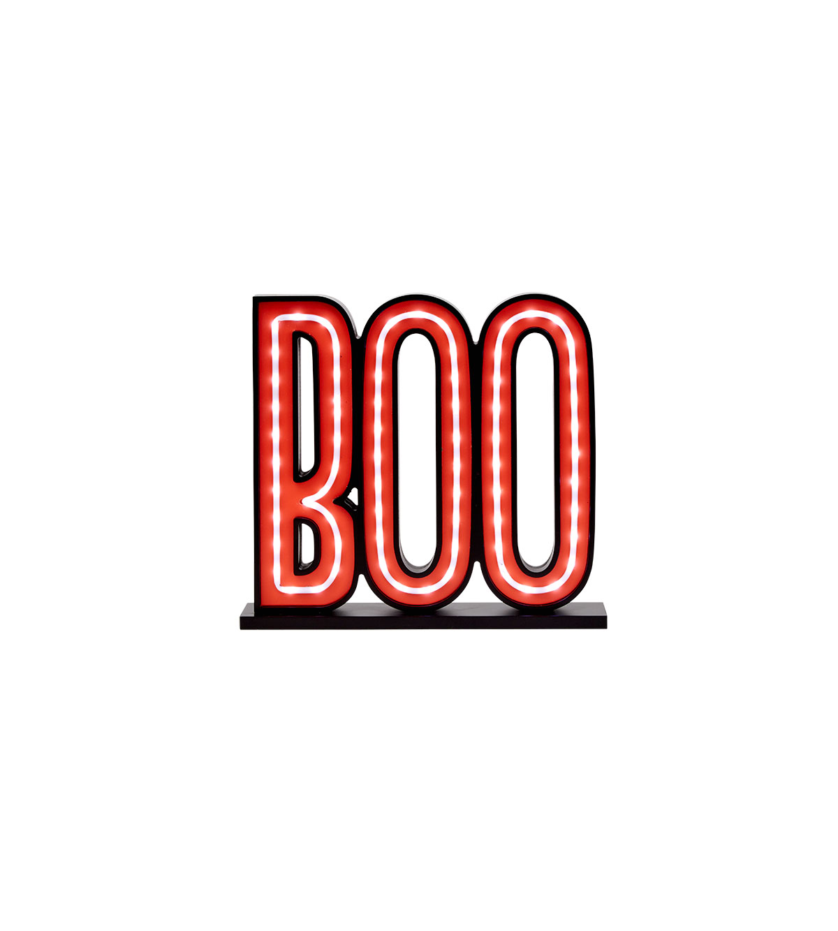 Boo Lite Sign with LED Bulbs