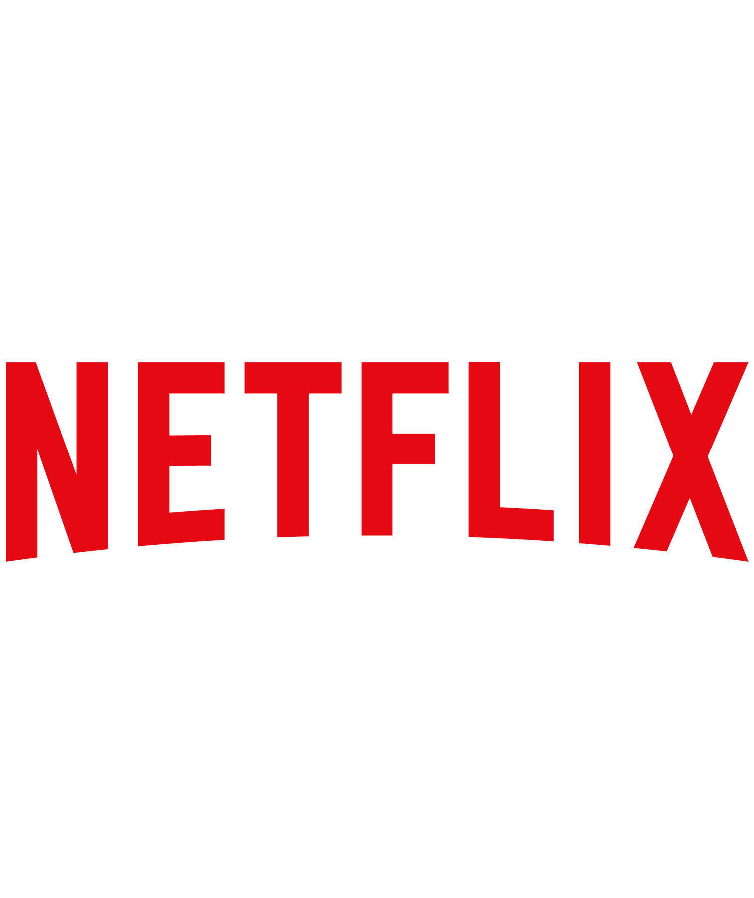 Netflix logo on white
