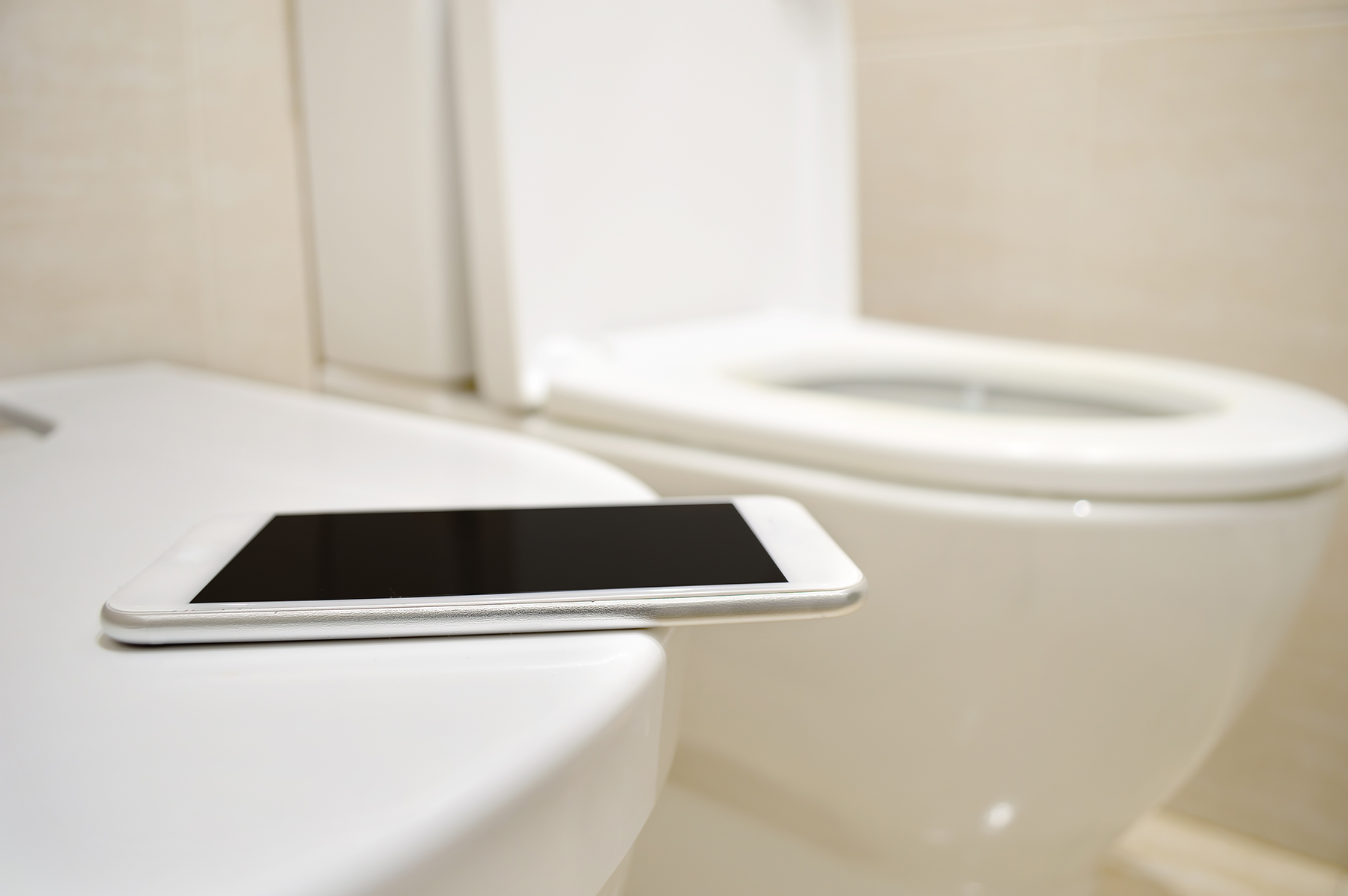 Phone in bathroom