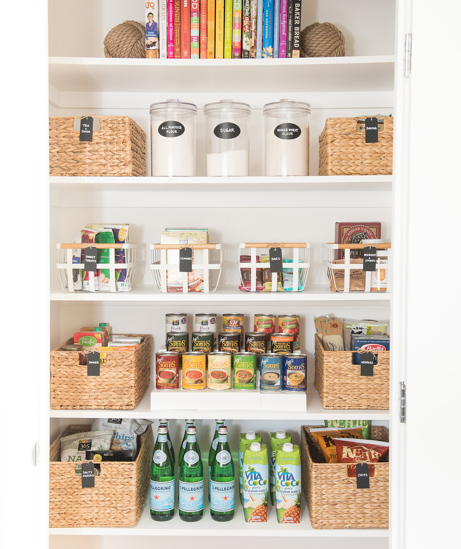 NEAT Method shelves with multiple organizers