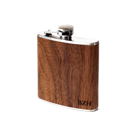 Personalized Wooden Flask