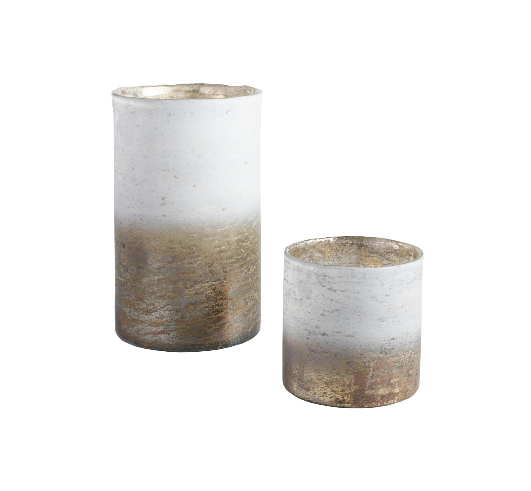 Foiled Metaliic Ombre Hurricane Candleholder