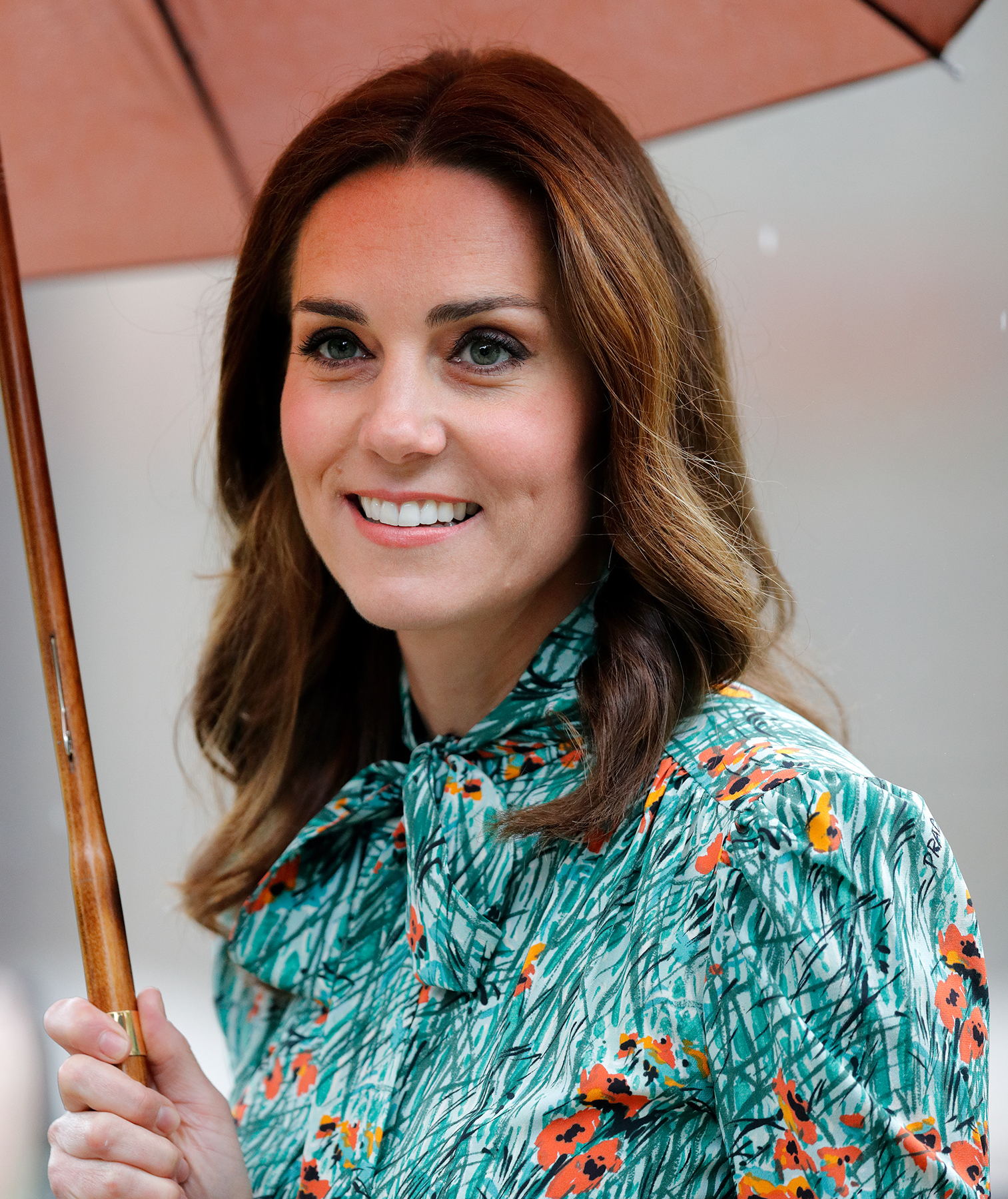 Kate Middleton with umbrella