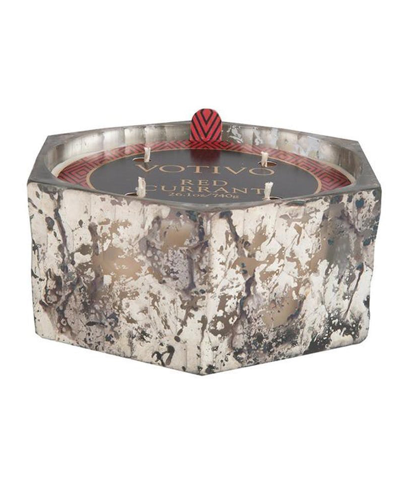 Red Currant Marble Candle