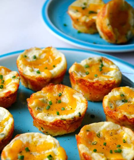 Cheesy Leftover Mashed Potato Muffins