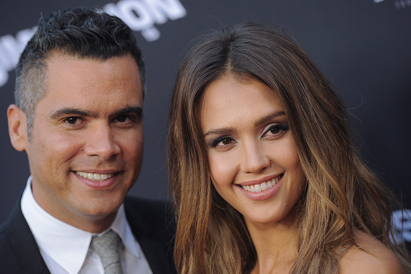 Cash Warren and Jessica Alba Smiling