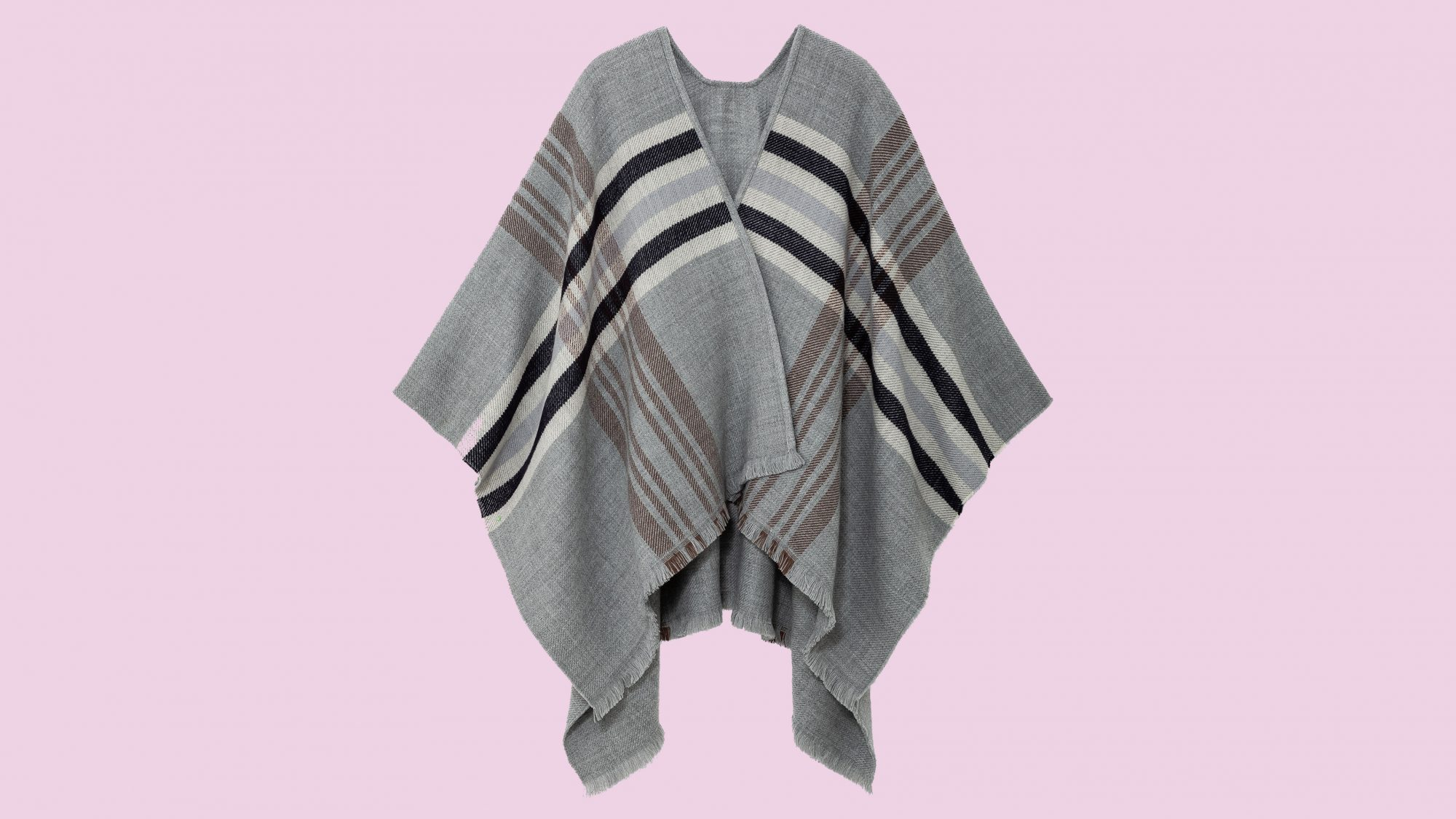 gifts-for-mom: plaid poncho
