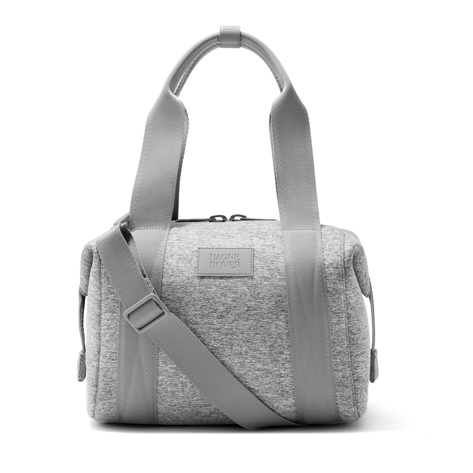gray neoprene duffel bag by dagne dover