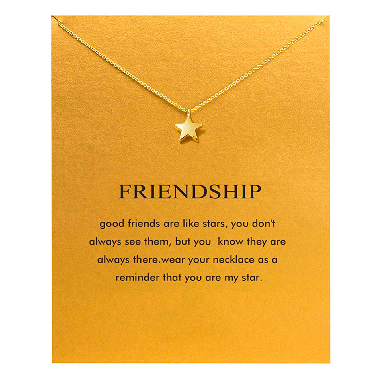 gold star friendship necklace