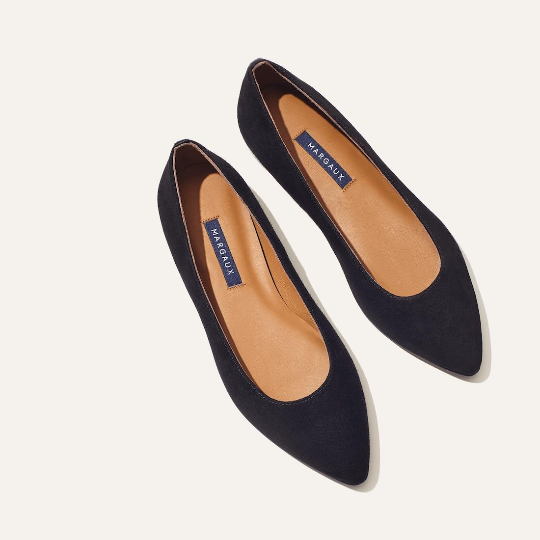 suede pointed toe flat shoe