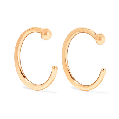melissa joy manning gold hoop earrings