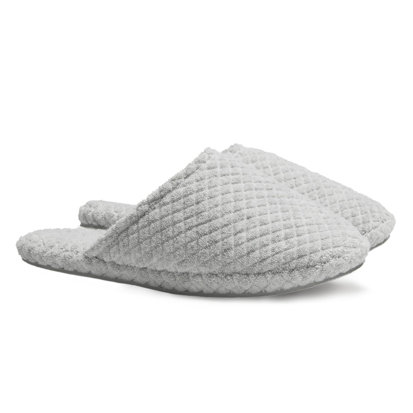 parachute home gray quilted slippers