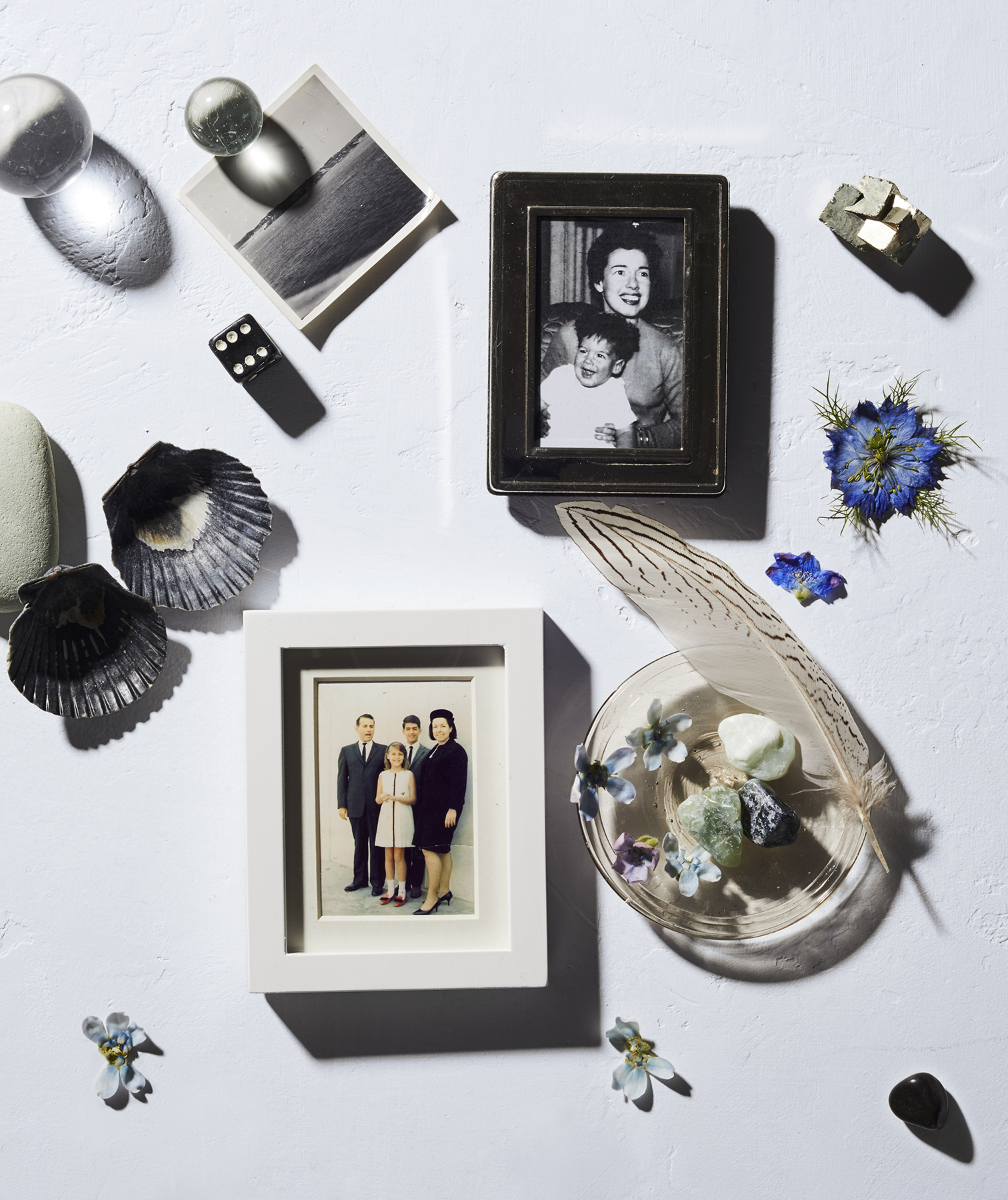 Family photos and personal objects