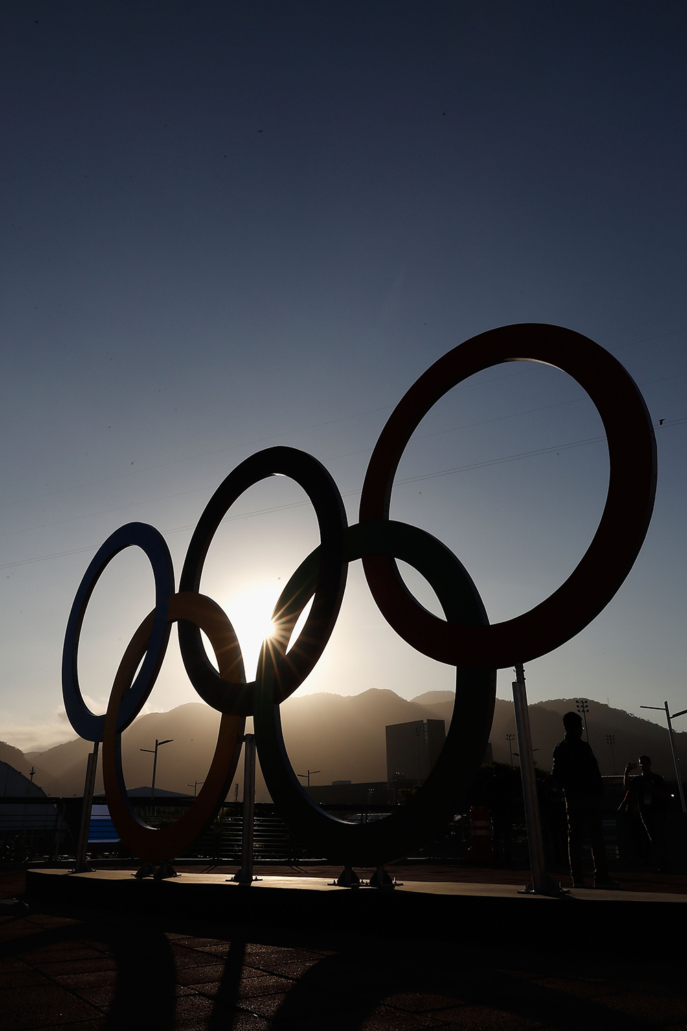 Olympic Rings in the Morning at Rio