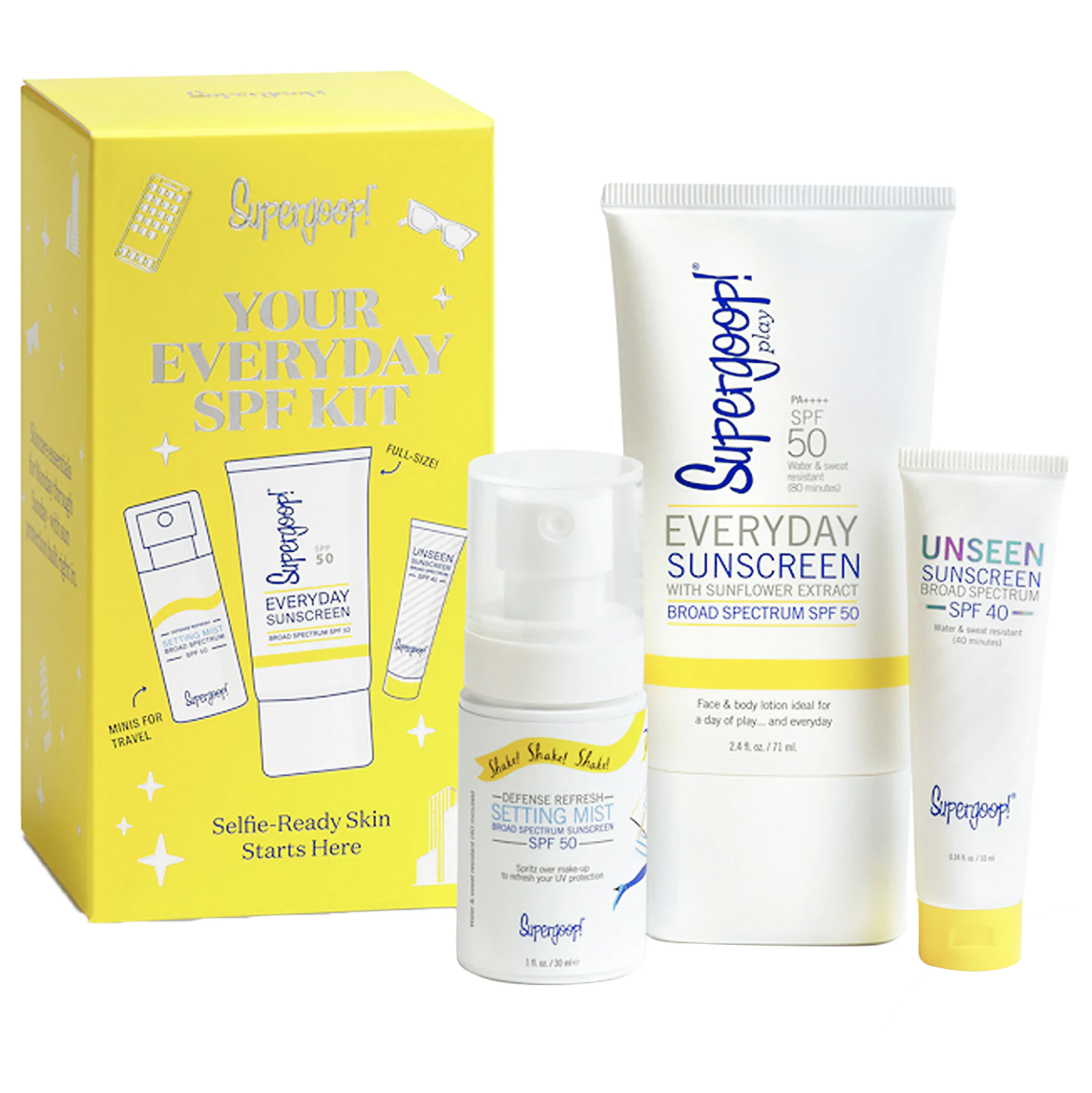 Best Christmas gifts 2019 - Supergoop Your Everyday SPF Kit