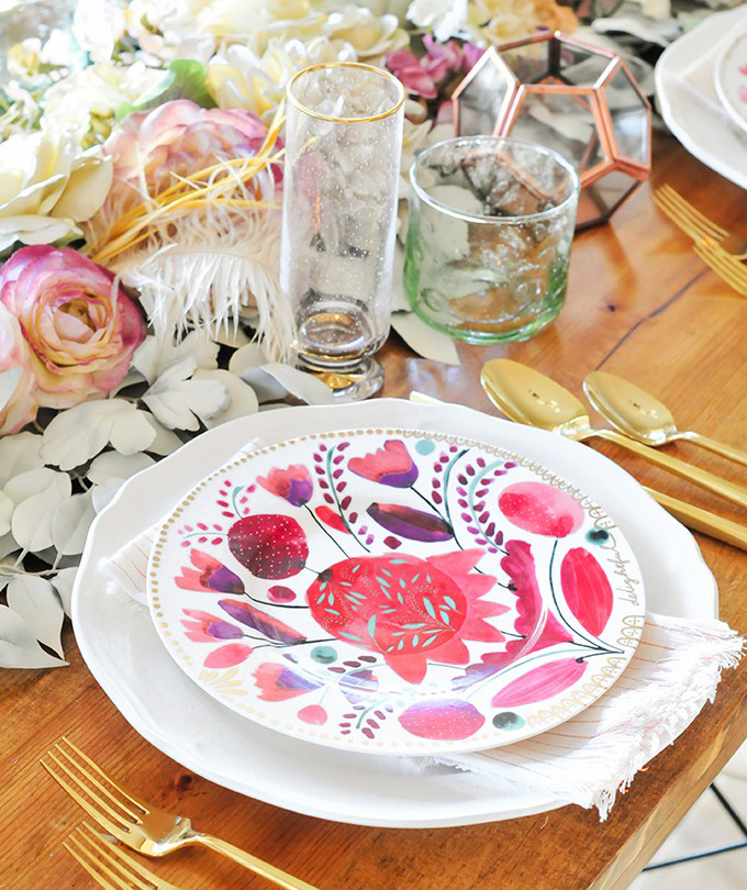DIY Faux Floral Table Runner