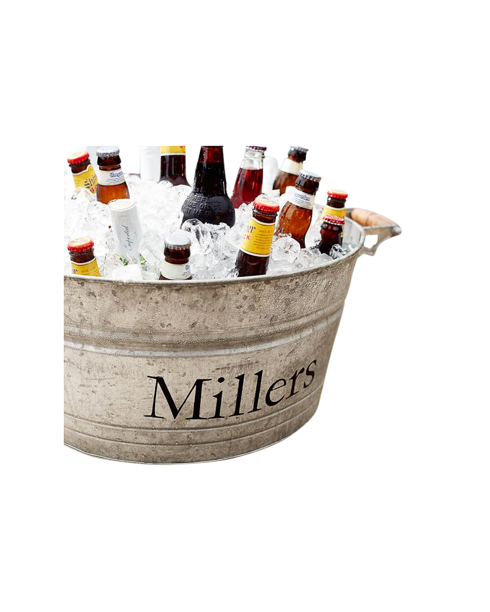 Galvanized Metal Large Party Bucket