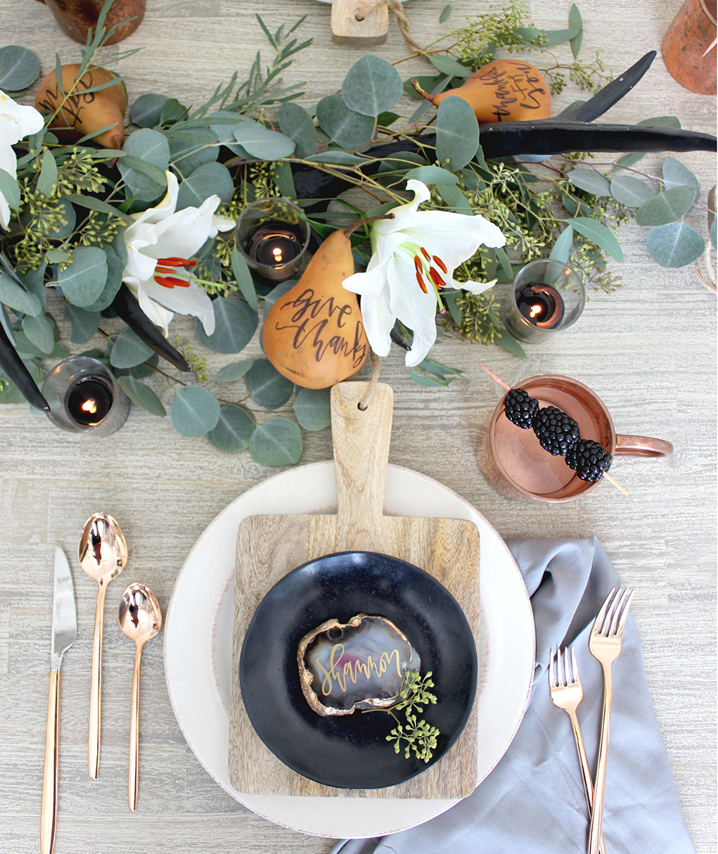 A Moody Modern Thanksgiving Table