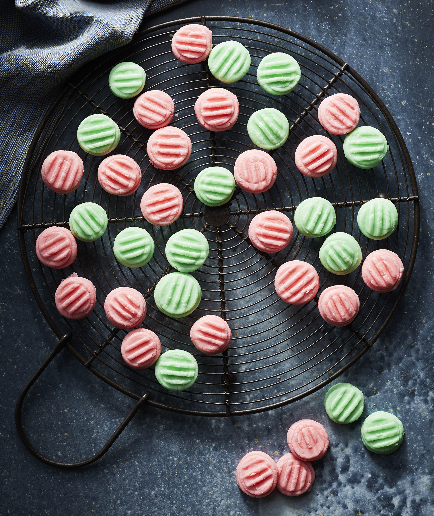 Piped Cream Cheese Mints