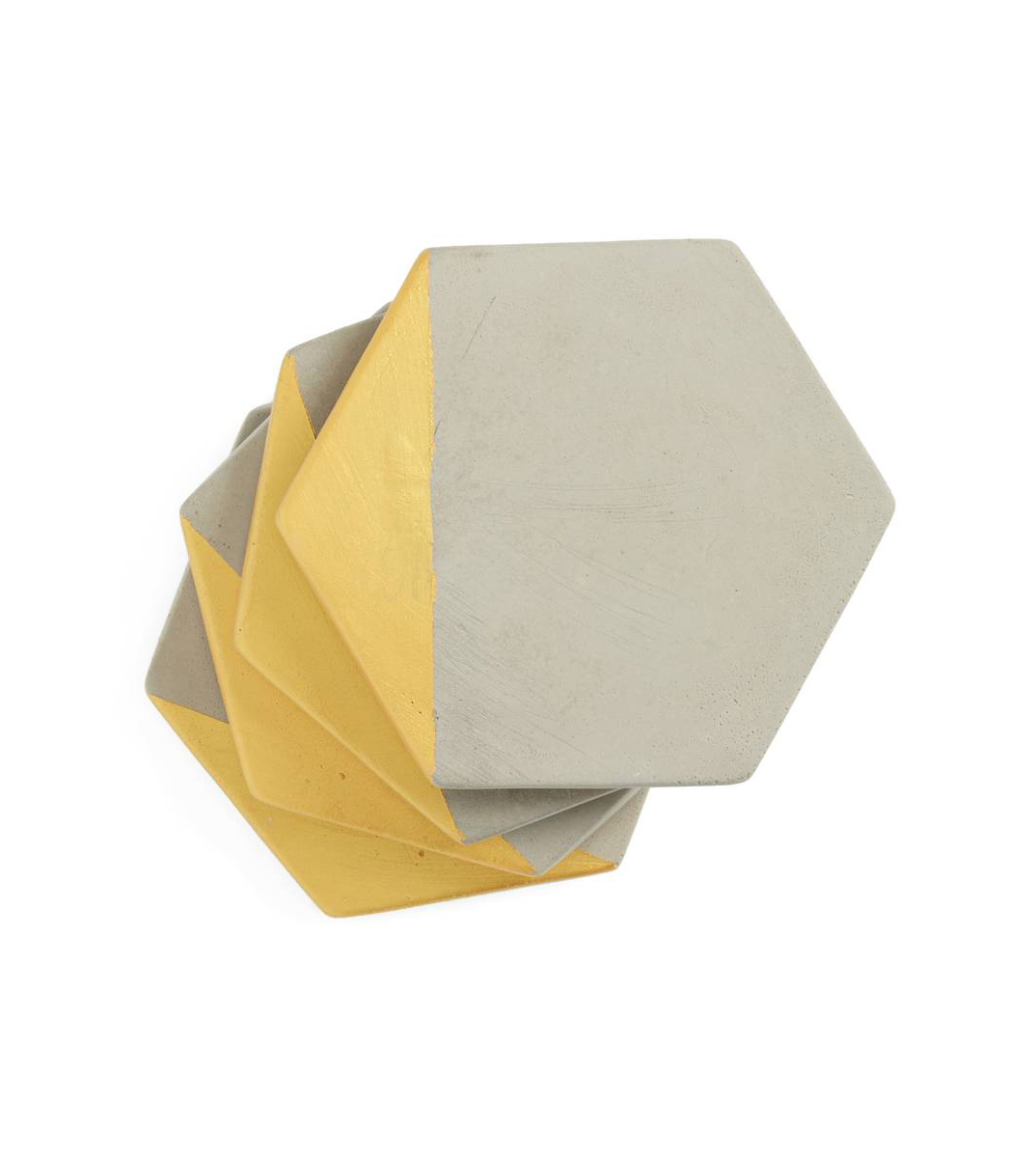 Set of Four Cement Coasters
