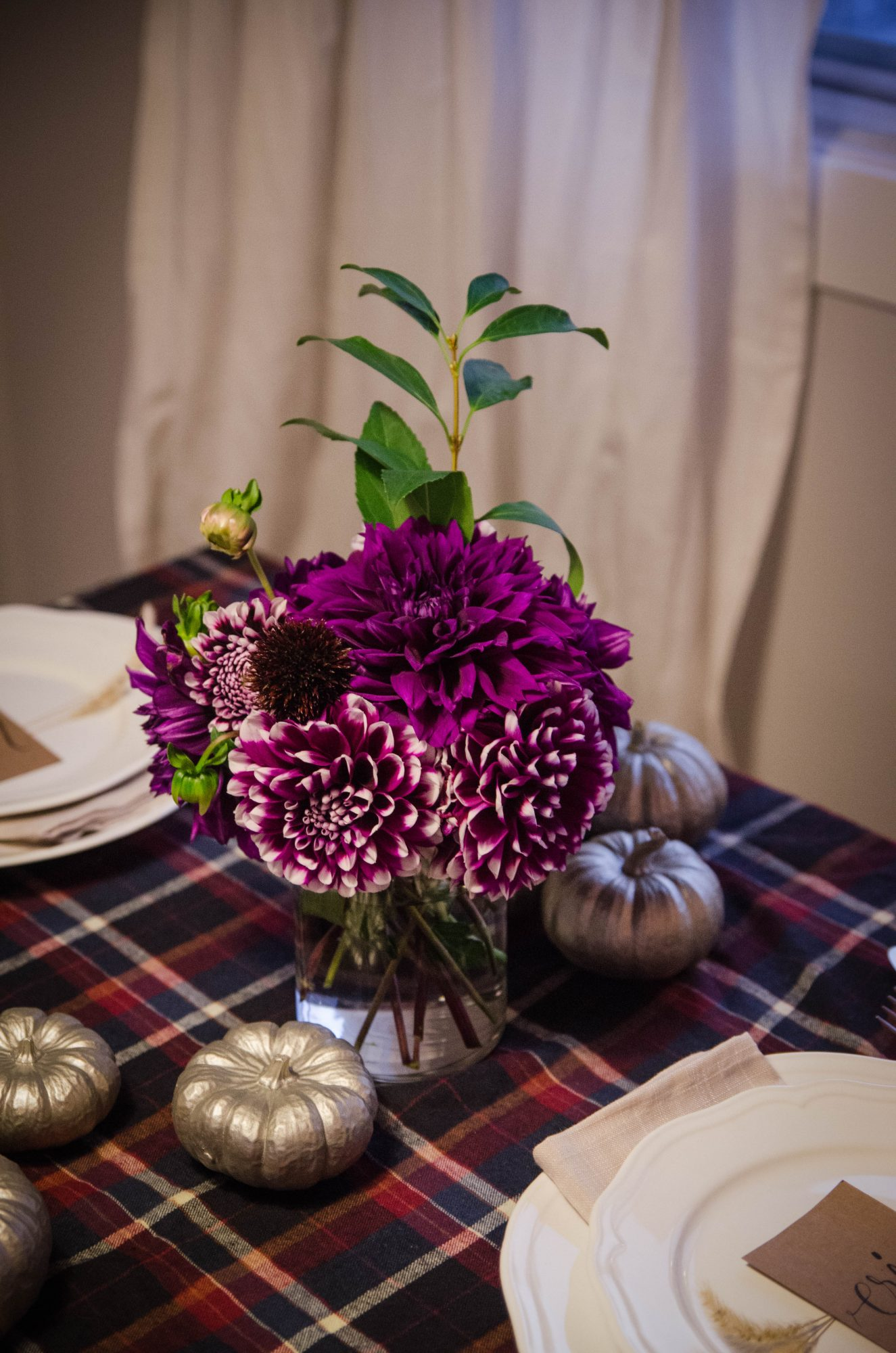 Flannel Thanksgiving Table Setting