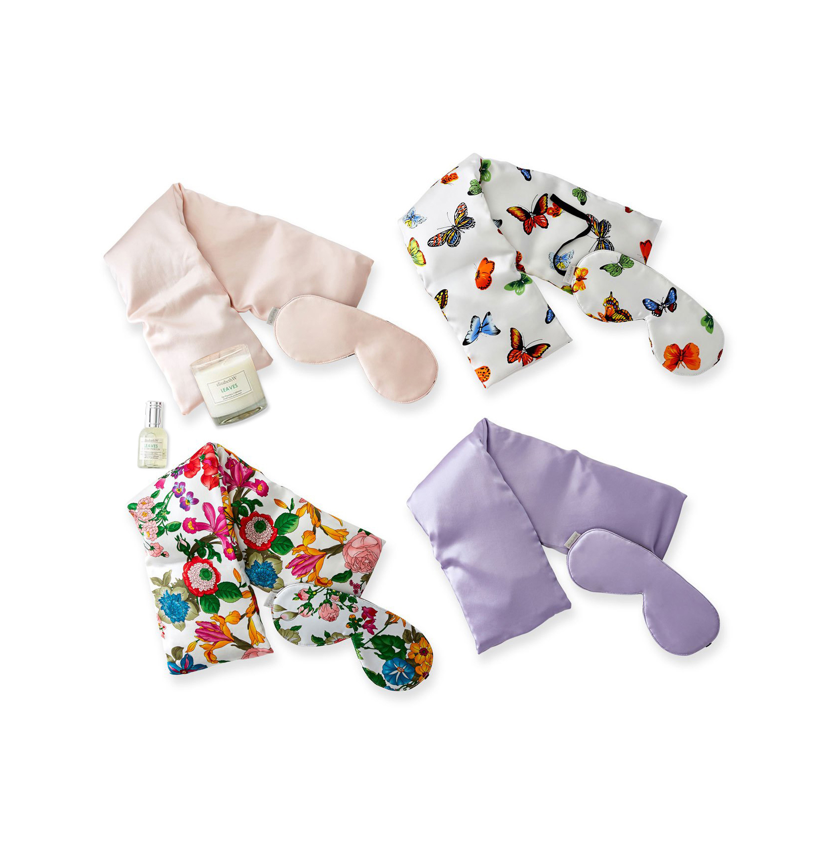 Floral Silk Eye Mask and Neck Wrap