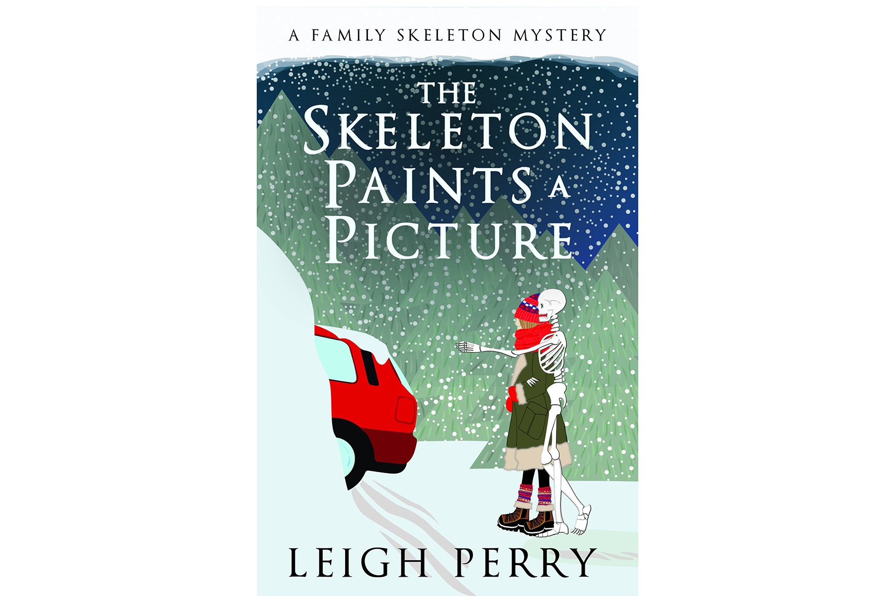 The Skeleton Paints a Picture, by Leigh Perry