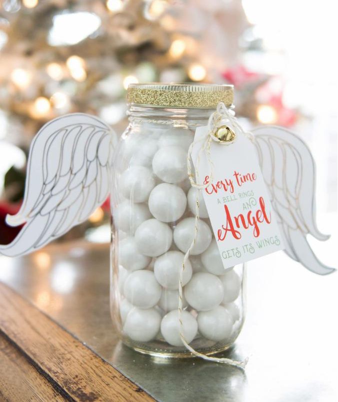 Christmas Angel Mason Jar