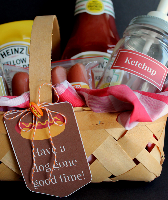 Hot Dog Lover Gift Basket