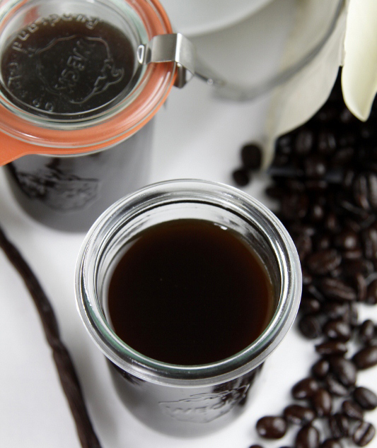 Homemade Coffee Liqueur Mason Jar