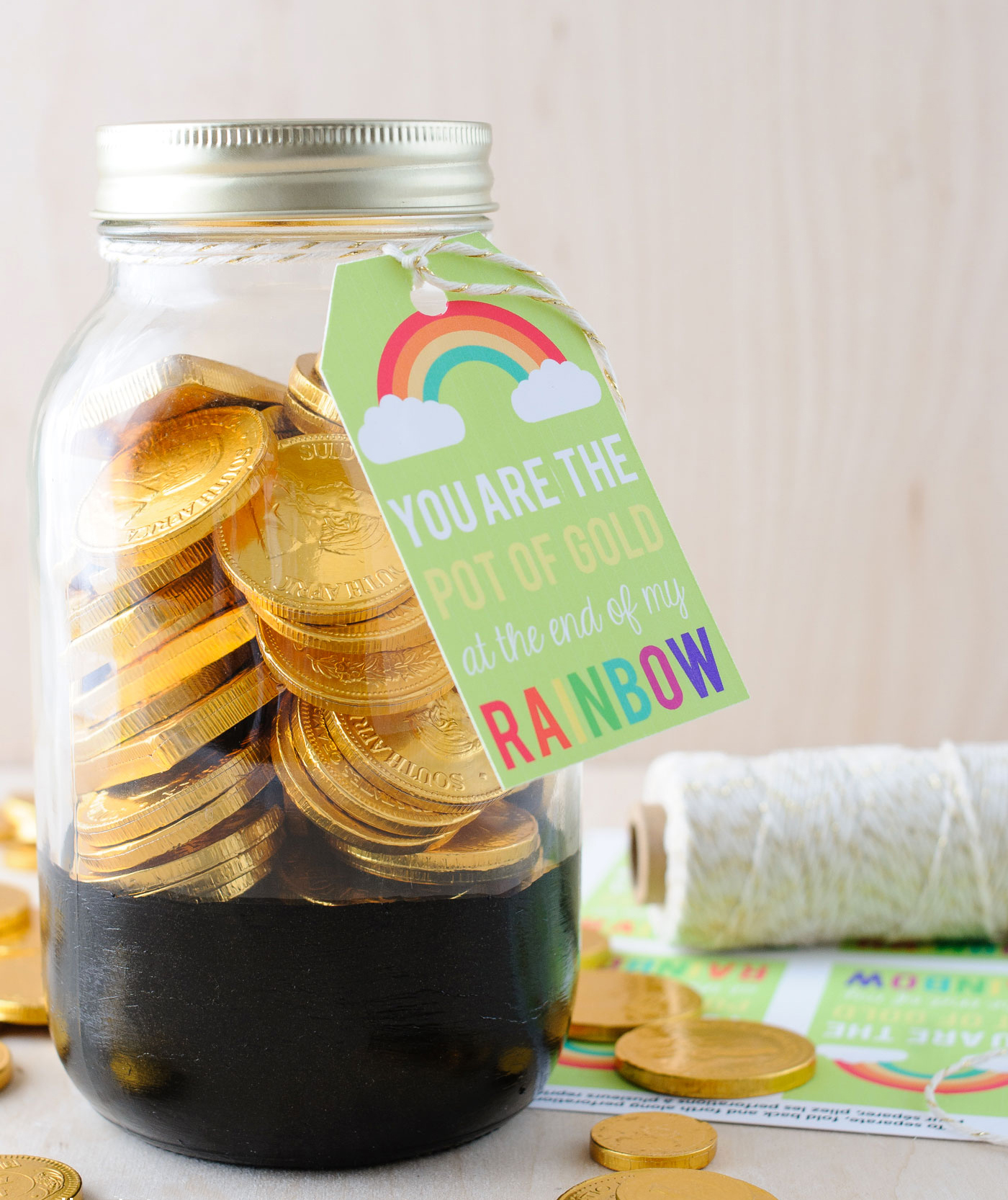 Pot of Gold Mason Jar