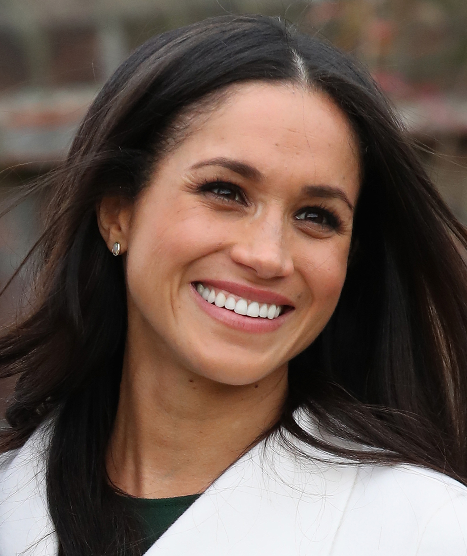 Meghan Markle at engagement announcement