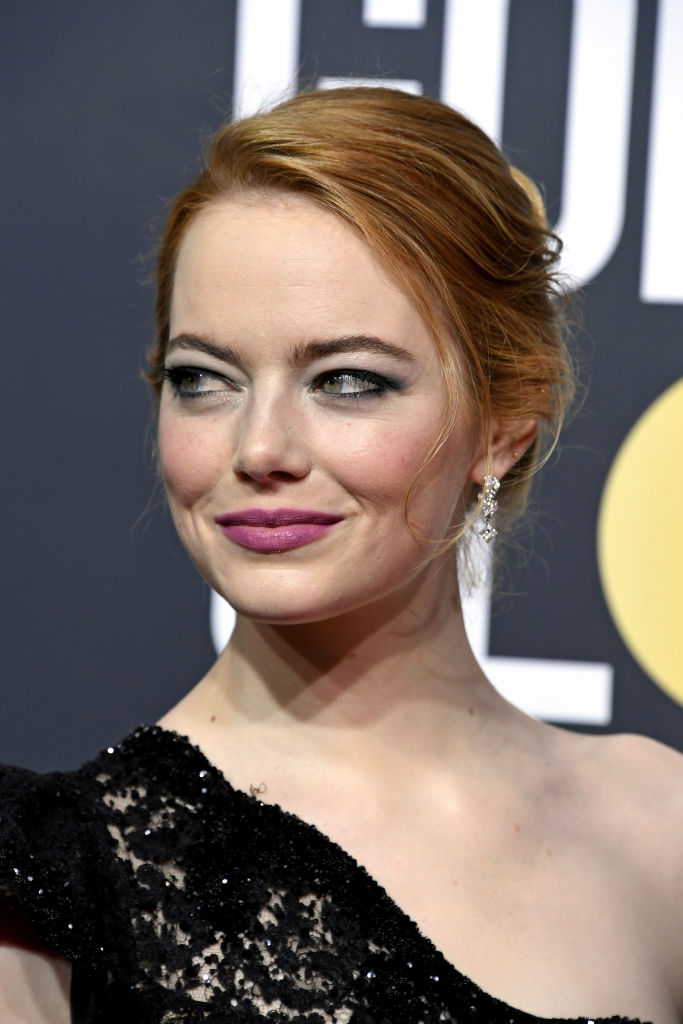 Emma Stone at Golden Globes 2018