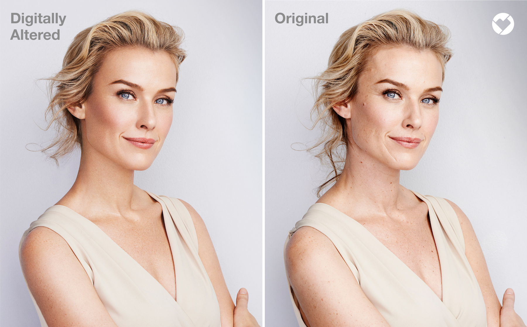 CVS Beauty Ad before and after Photoshop