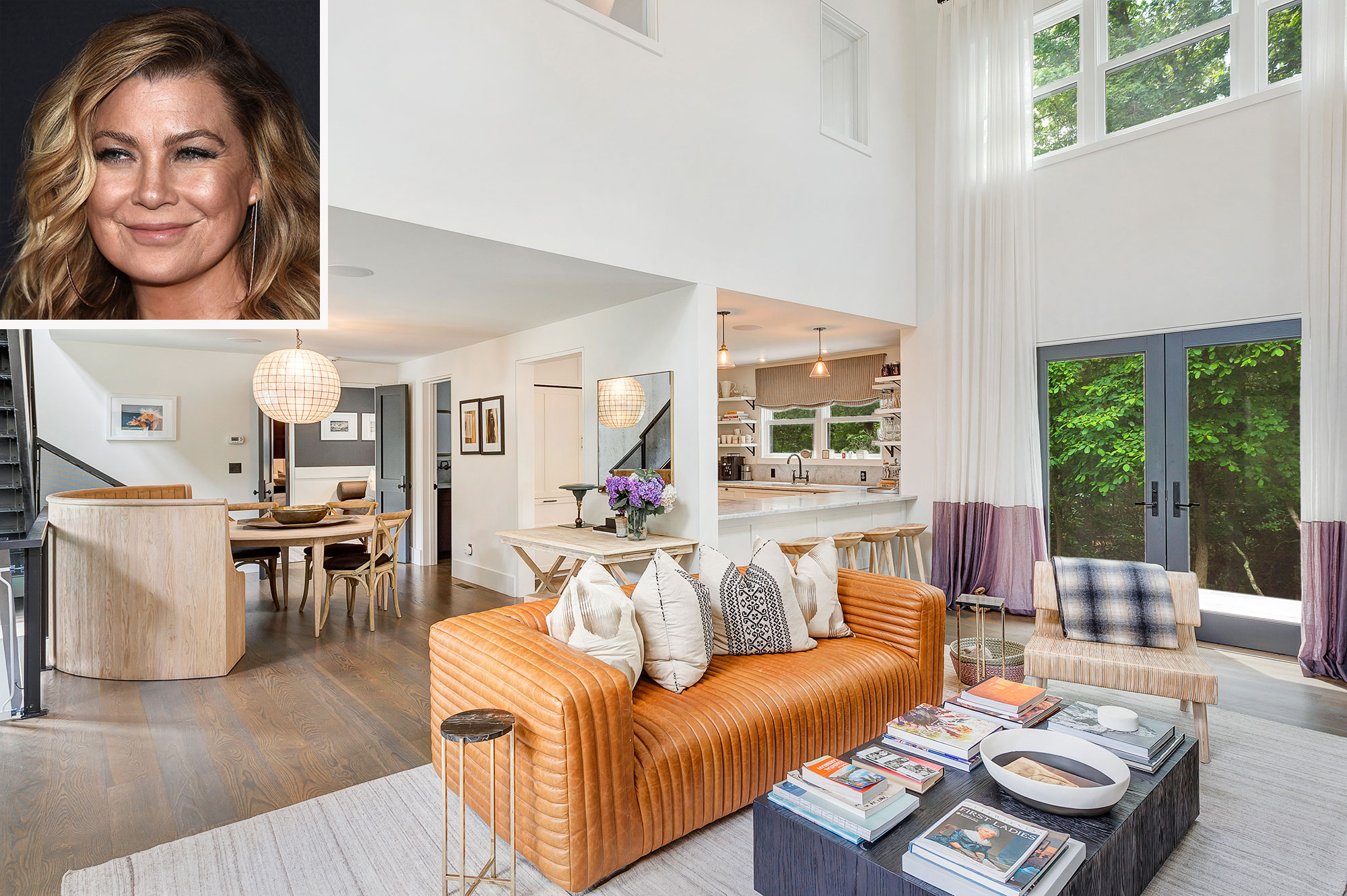 Ellen Pompeo Lists Just-Completed 'Modern Barn' in the Hamptons for $3.8 Million