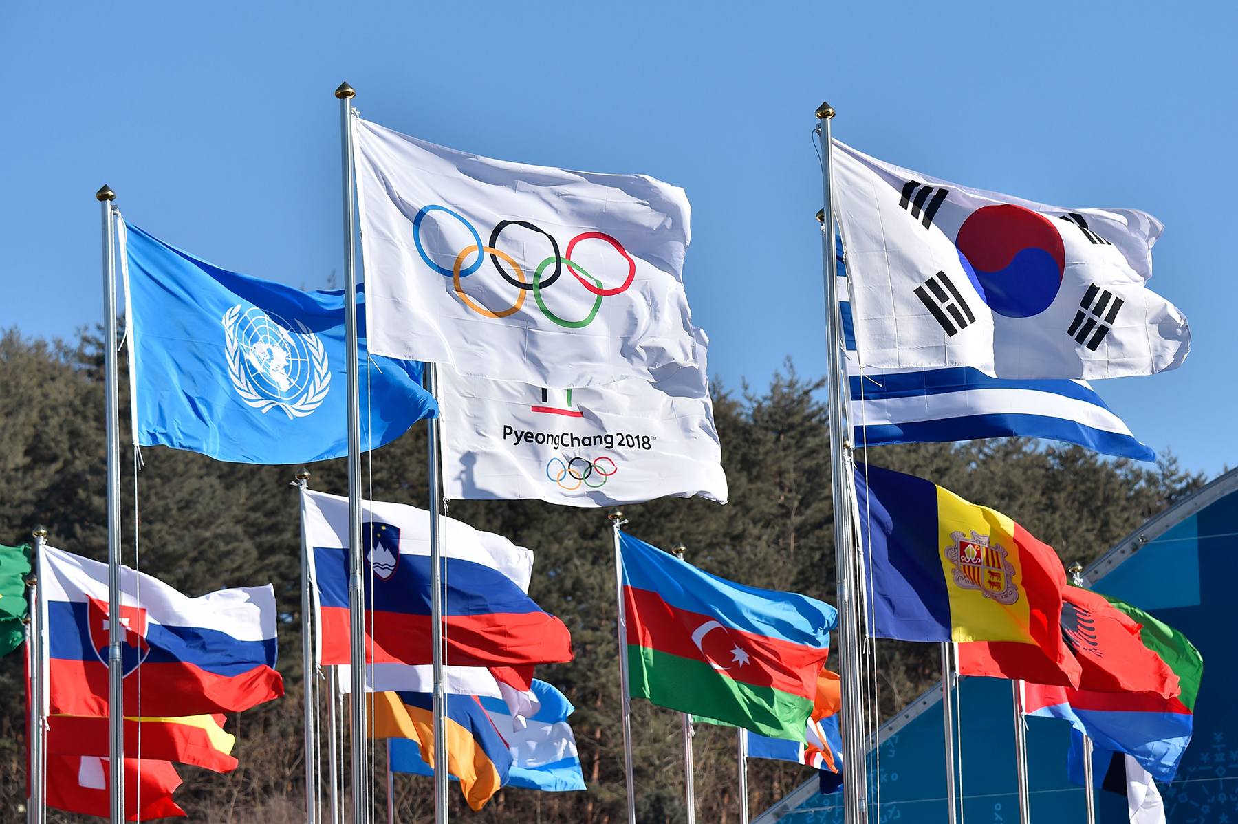 2018 Winter Olympics flags