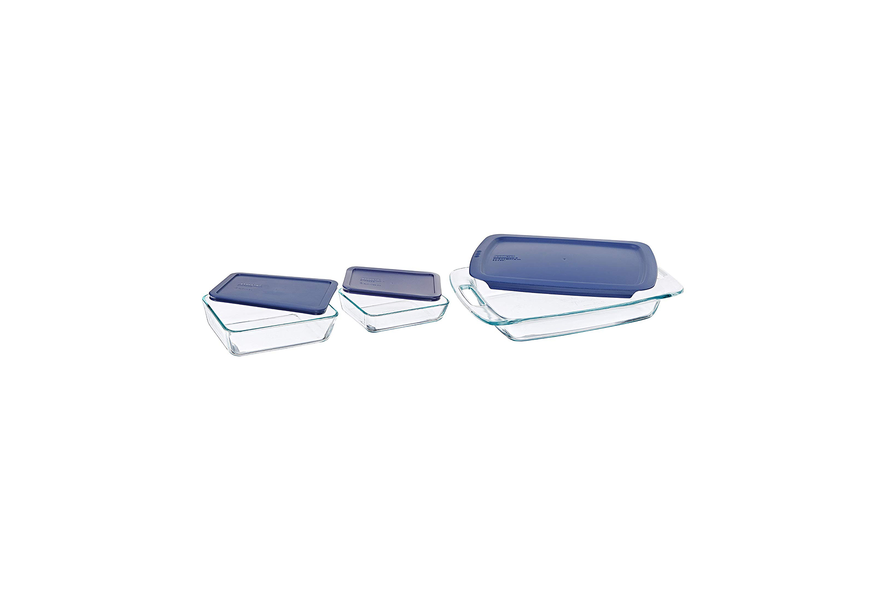 Pyrex Easy Grab 6-Piece Glass Bakeware and Food Storage