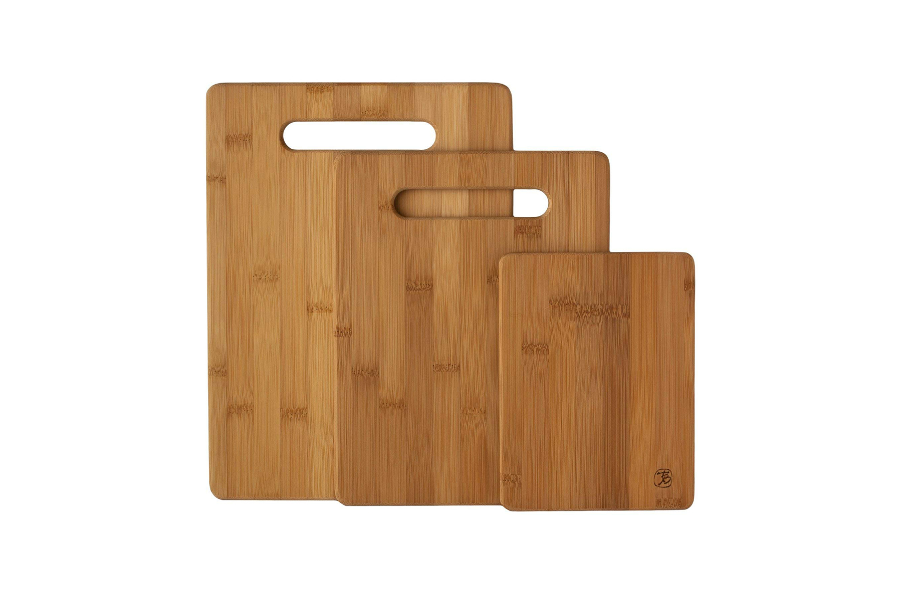 Totally Bamboo Three Piece Bamboo Serving and Cutting Board
