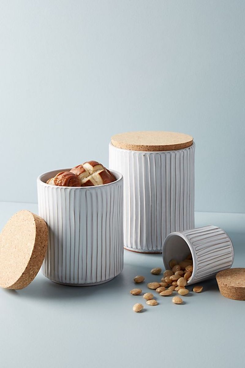 Glazed Terracotta Canister with nuts